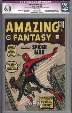 Amazing Fantasy #15 Cgc 6.0 Off White Pages (r)
