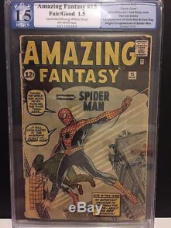 Amazing Fantasy #15 PGX Graded 1.5 Spider man Not CGC CBCS! NO RESERVE