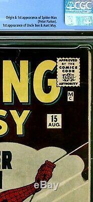 Amazing Fantasy #15 September 1962 Looks Like 6.0 Cgc 4.0 No Marvel Chipping