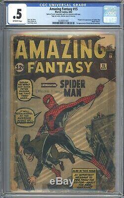 Amazing Fantasy #15 Vol 1 CGC 0.5 1st App of Spider-Man 1962 Book is Complete