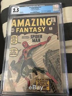 Amazing Fantasy #15 cgc 2.5 conserved grade