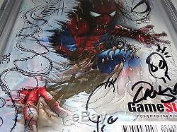 Amazing Spider-Man #1 7x CGC Signature Sketch CGC 9.8 GREG HORN STAN LEE QUESADA
