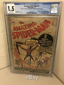 Amazing Spider-Man #1 CGC 1.5 (1963) Key Sliver Age Item