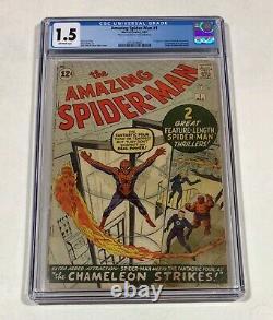 Amazing Spider-Man #1 CGC 1.5 MEGA KEY! (1st issue, 1st FF crossover!)1963 Marvel