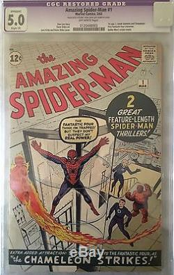 Amazing Spider Man 1 CGC 2.5 5.0 Silver Age Grail