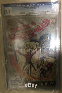 Amazing Spider-Man 1 CGC 2.5 Marvel 1963