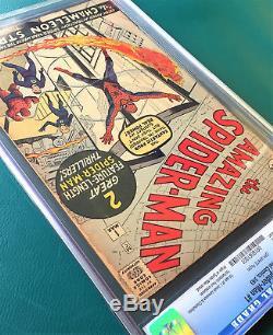 Amazing Spider-Man #1 CGC 2.5 Silver Age March 1963 Key Grail Comic Classic