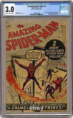 Amazing Spider-Man #1 CGC 3.0 1963 0348539002 1st app. J. Jonah Jameson