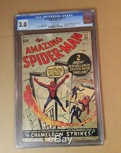 Amazing Spider-Man #1 CGC 3.0 CGC Marvel Comics Off White Pages