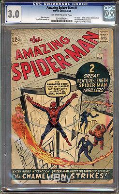 Amazing Spider-Man #1 CGC 3.0 GD/VG Universal CGC #0245674001