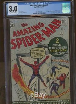 Amazing Spider-Man 1 CGC 3.0 Marvel 1963 1st J Jonah Jameson & More