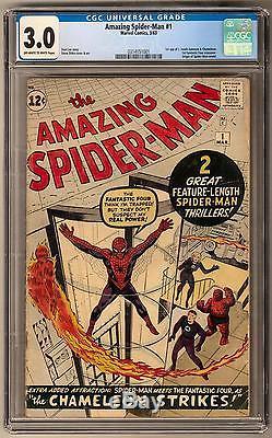 Amazing Spider-Man #1 CGC 3.0 (OW-W) 1st Chameleon & J. Jonah Jameson