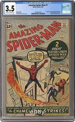 Amazing Spider-Man #1 CGC 3.5 1963 3763253001 1st app. J. Jonah Jameson