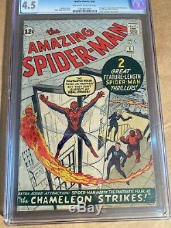 Amazing Spider-Man #1 CGC 4.5 Silver Age March 1963 Key Grail Comic Book Classic