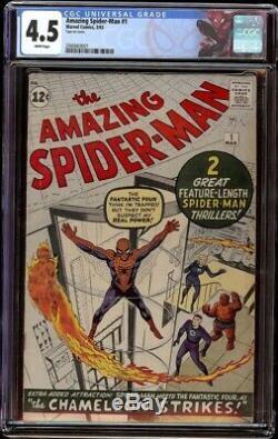 Amazing Spider-Man # 1 CGC 4.5 White (Marvel, 1963) No writing, Looks 5.0+, Key