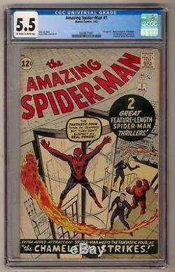 Amazing Spider-Man #1 CGC 5.5 (OW-W) 1st J. Jonah Jameson 1st FF Crossover