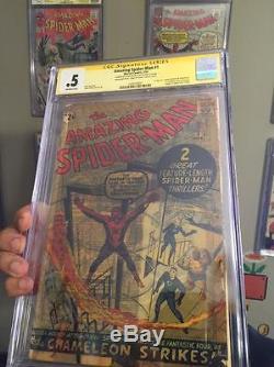 Amazing Spider-Man #1 CGC. 5 Complete No Restoration! Signed Stan Lee! Mega key
