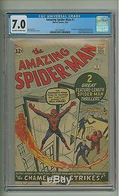 Amazing Spider-Man #1 (CGC 7.0) OWithW pages Origin retold Ditko 1963 (c#13800)
