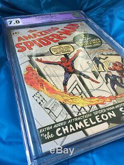 Amazing Spider-Man #1 CGC 7.0 Restored 1963 Key Grail Silver Age Comic Book