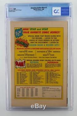 Amazing Spider-Man #1 CGC 8.0 VF Marvel 1966 Golden Record Reprint