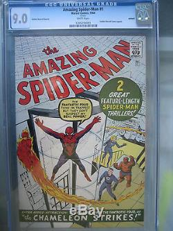 Amazing Spider-Man #1 CGC 9.0 WP GRR Silver Age Marvel Comics 1966