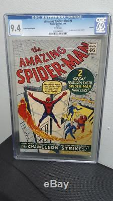 Amazing Spider-Man #1 CGC 9.4 1966 GRR Rare! After Fantasy #15! NO-RESERVE