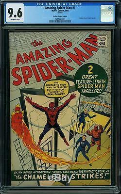 Amazing Spider-Man #1 CGC 9.6 1966 GRR Rare! After Fantasy #15! F9 123 cm