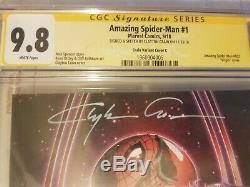 Amazing Spider-Man # 1 CGC SS 9.8 Clayton Crain Virgin variant signed and sketch