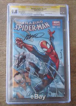 Amazing Spider-Man #1 CGC SS X4 9.8 Signed by STAN LEE +++