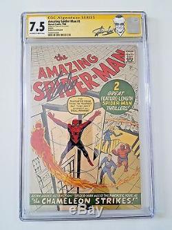 Amazing Spider-Man 1 GRR 7.5 CGC SS Stan Lee