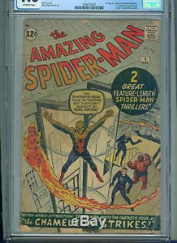 Amazing Spider-Man #1 (Mar 1963, Marvel) CGC 1.8 2nd Appearance of Spider-Man