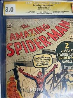 Amazing Spider-Man #1 Marvel Silver Age 1963 CGC 3.0 Signed by Stan Lee