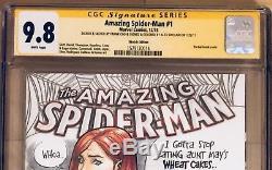 Amazing Spider-Man #1 Mary Jane Original Art Sketch & Signed Frank Cho CGC 9.8