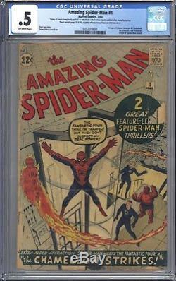 Amazing Spider-Man #1 Vol 1 CGC 0.5 1st App of JJJ and Chameleon Nice Book! 1963