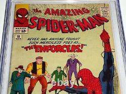 Amazing Spider-Man #10 CGC SS Signature Autograph STAN LEE 1st Big Man Enforcer