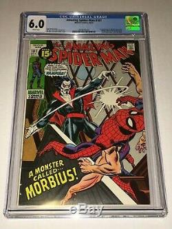 Amazing Spider-Man #101 CGC 6.0 FN Marvel 1971 1st Morbius the Living Vampire