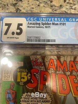 Amazing Spider-Man 101 CGC 7.5 1st Appearance Morbius! Cert# 2041179002