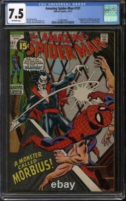 Amazing Spider-Man #101 CGC 7.5 (OW) 1st appearance of Morbius
