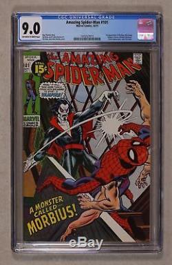 Amazing Spider-Man 101 CGC 9.0 1st Morbius -Beautiful Marvel Bronze Key! 1 300