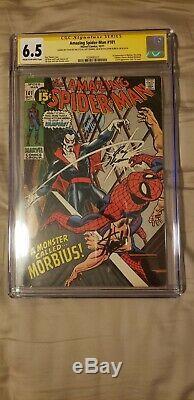 Amazing Spider-Man 101 CGC SS x3 6.5 1st Morbius Stan Lee, Romita Sr, Roy Thomas