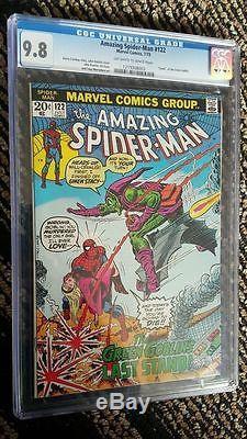 Amazing Spider-Man #122 CGC 9.8 Death of Green Goblin! Gwen Stacy! F2 123 cm