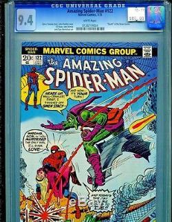Amazing Spider-Man #122 Marvel Comics 1973 Death of Green Goblin CGC Graded 9.4