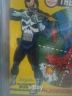 Amazing Spider-Man #129 1974 CGC Graded 9.6 1st Appearance Punisher White Page