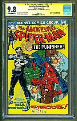 Amazing Spider-Man #129 1st app Punisher Signed Stan Lee & John Romita CGC 9.8