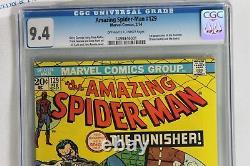 Amazing Spider-Man #129 (2/1974) CGC 9.4 Near Mint OW-WP Major Key 1st Punisher
