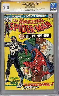 Amazing Spider-Man #129 CGC 2.0 John Romita Signature Series (C-OW)