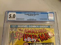 Amazing Spider-Man 129 CGC 5.0 First Appearance Of the Punisher, Marvel 1974