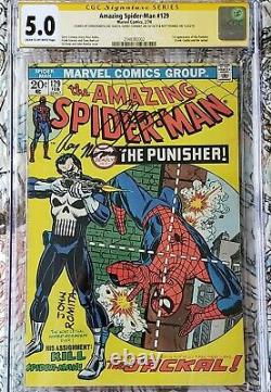 Amazing Spider-Man #129 CGC 5.0 SS 1st Punisher signed Romita, Conway & Thomas