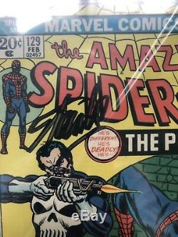 Amazing Spider-Man # 129 CGC 6.0 SS 1st Punisher Appearance, Signed Stan Lee