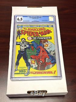 Amazing Spider-Man 129 CGC 6.5 WHITE Pages, 1st Punisher LOOK